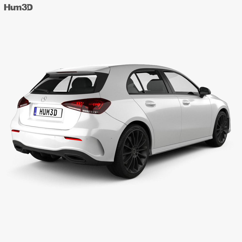 Mercedes-Benz A-class (W177) AMG Line 2018 3D Model