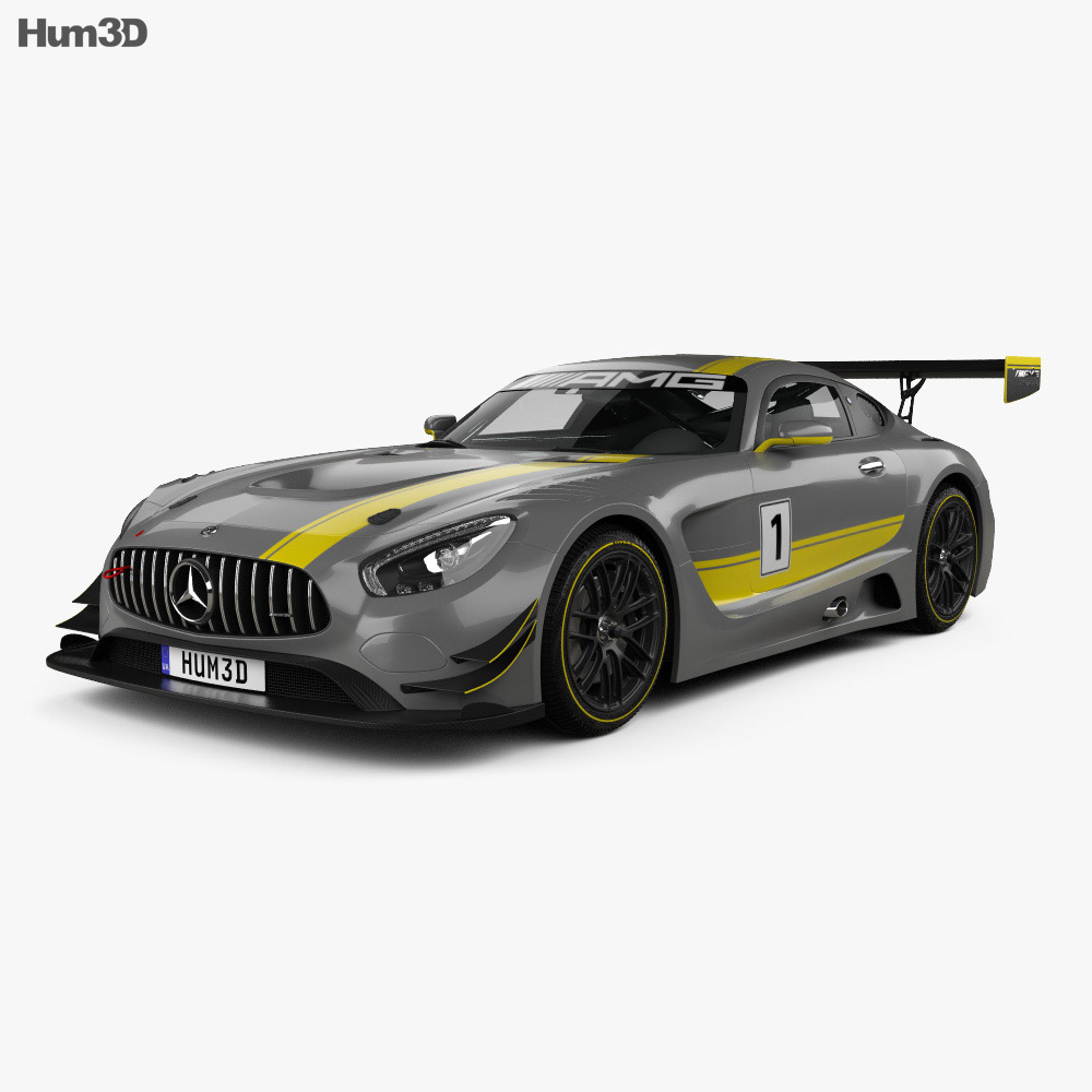 mercedes benz amg gt3 2015 3d model vehicles on hum3d. Black Bedroom Furniture Sets. Home Design Ideas