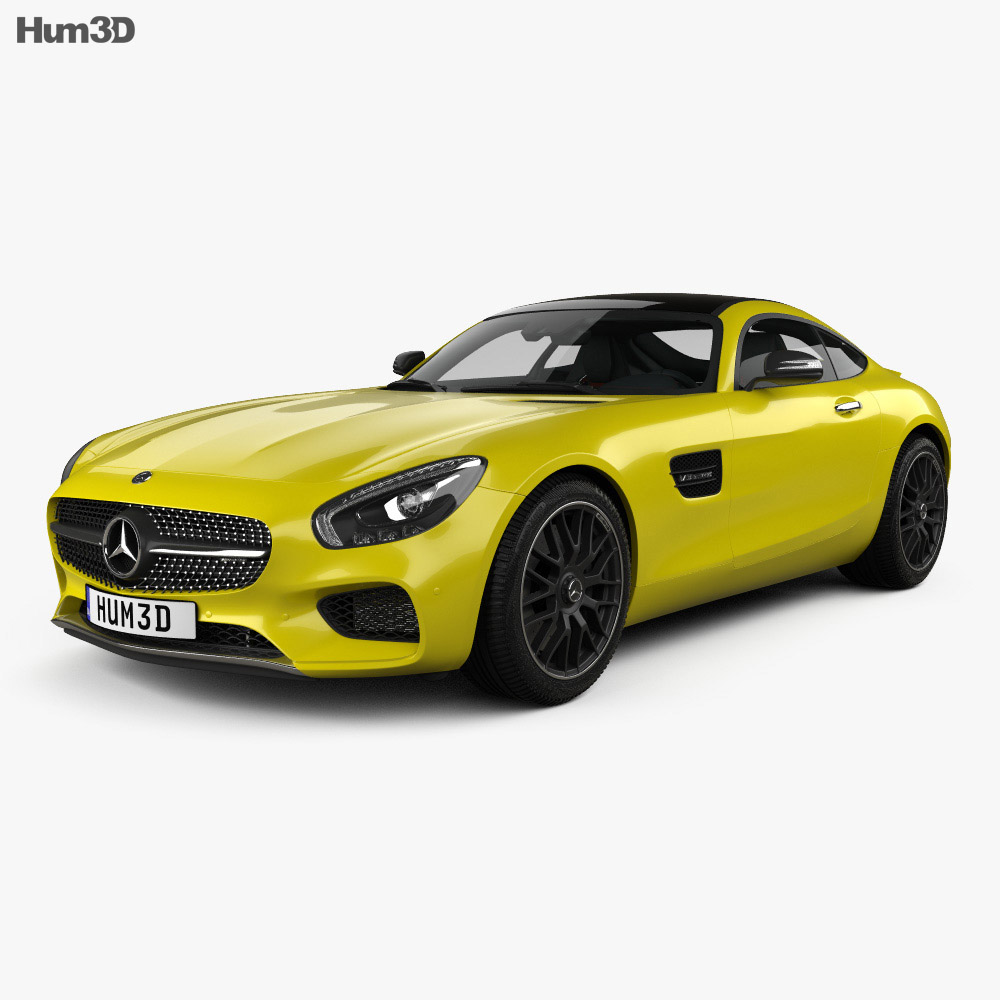 Mercedes-Benz AMG GT with HQ interior 2014 3d model