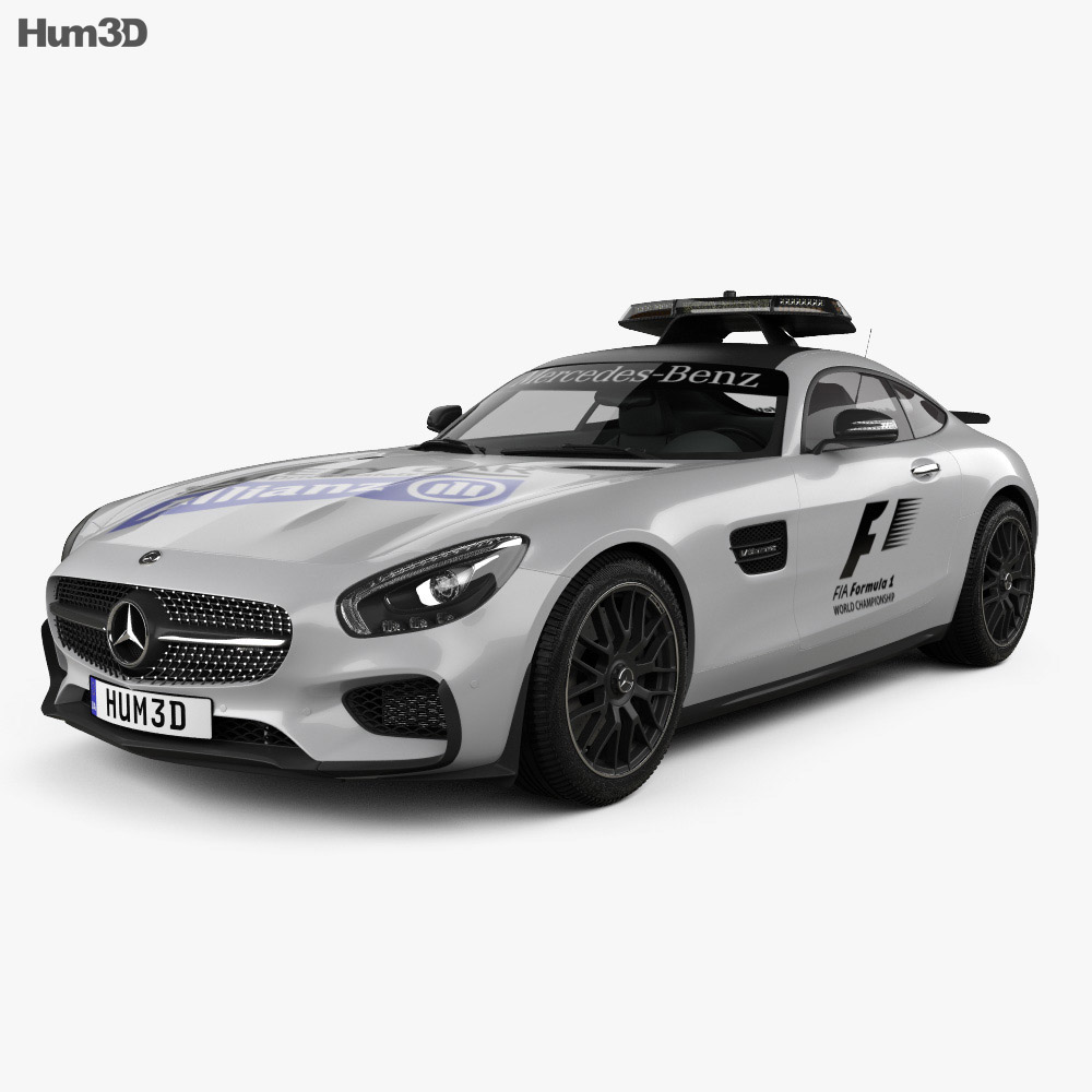 Mercedes benz amg gt s f1 safety car 2015 3d model humster3d for Mercedes benz safety