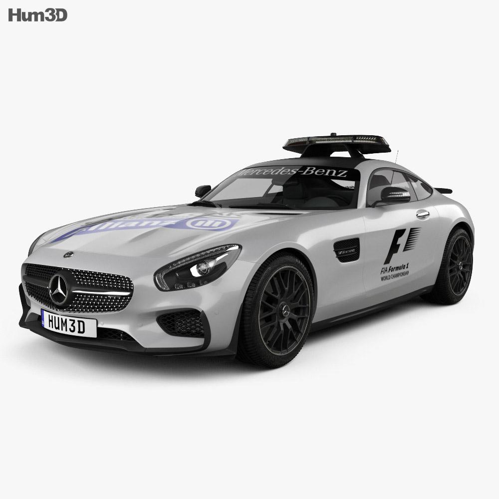Mercedes benz amg gt s f1 safety car 2015 3d model humster3d for Mercedes benz safety