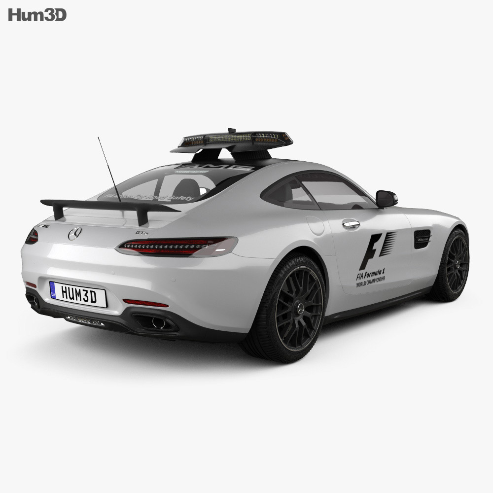Mercedes-Benz AMG GT S F1 Safety Car 2015 3d model back view