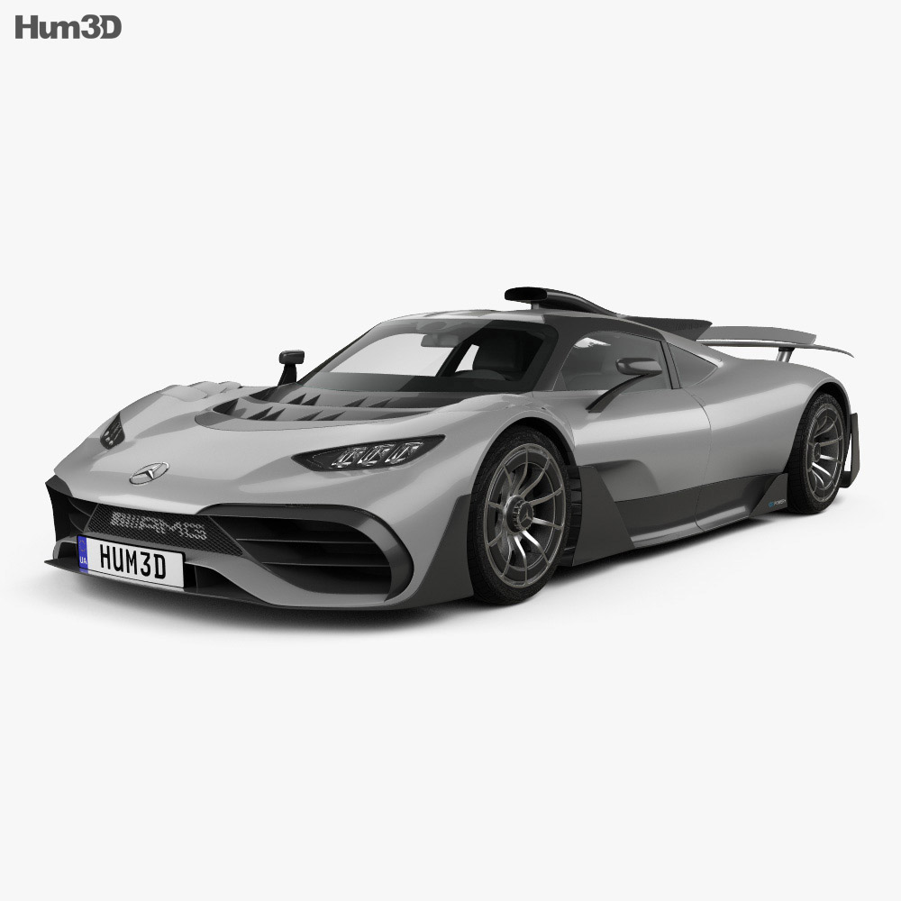 Mercedes-AMG Project ONE 2017 3D model - Vehicles on Hum3D