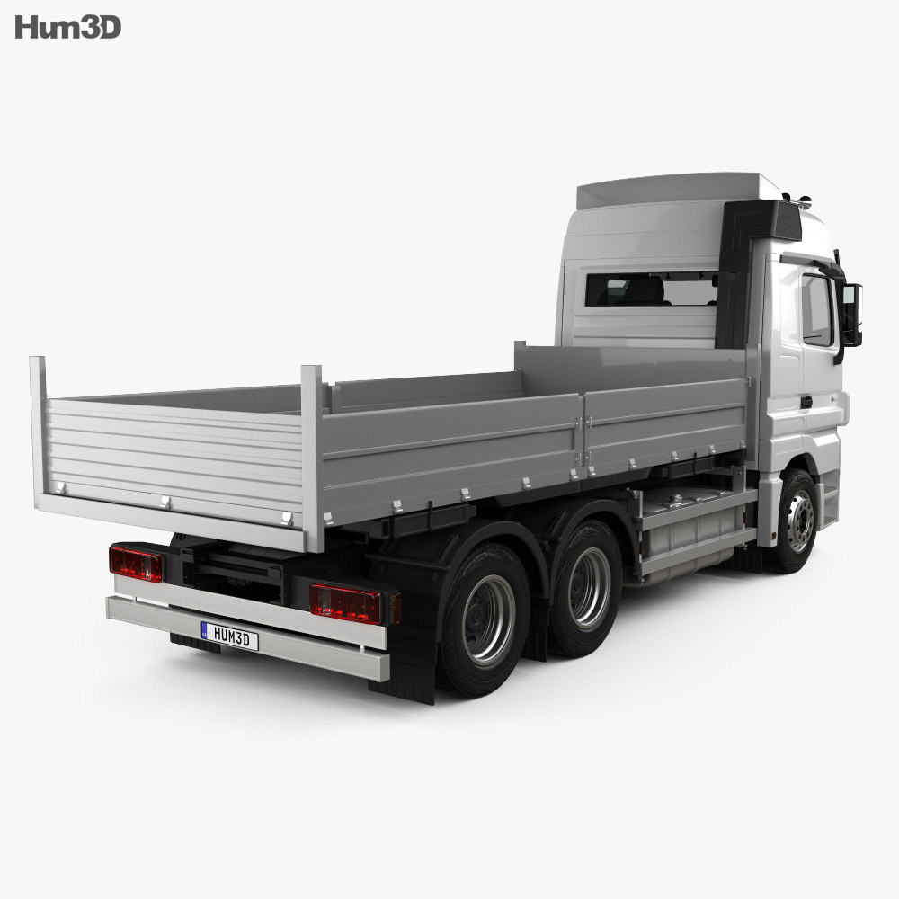 Mercedes-Benz Actros Flatbed 2011 3d model