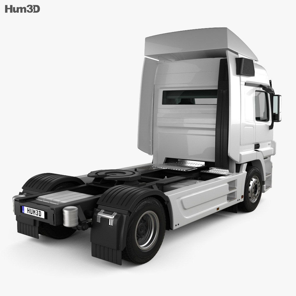Mercedes-Benz Actros Tractor Truck 2-axle with HQ interior 2009 3d model