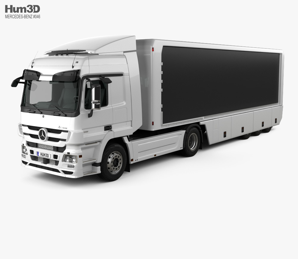 Mercedes-Benz Actros Tractor Trailer 2011 3d model