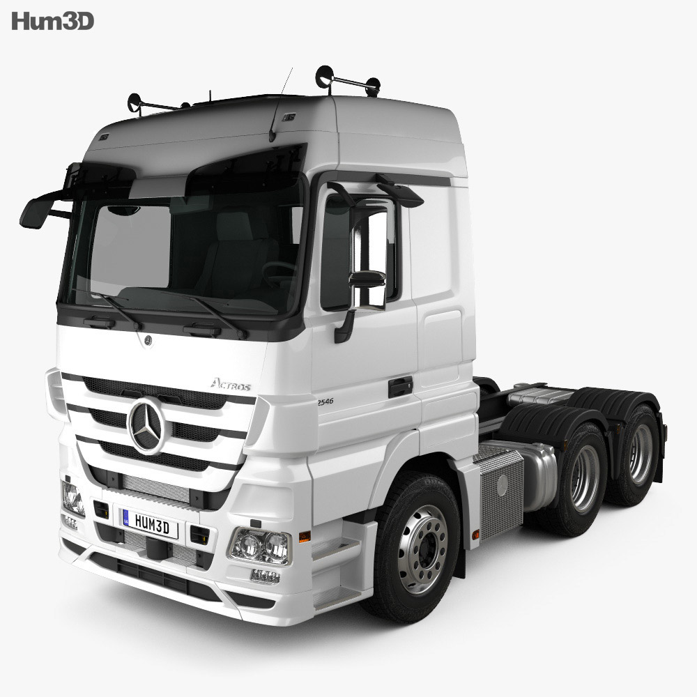 Mercedes-Benz Actros Tractor 3-axle 2011 3d model