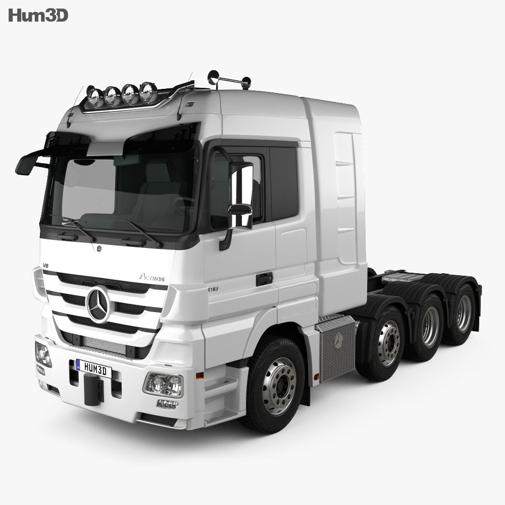 Mercedes-Benz Actros Tractor 4-axle 2011 3d model