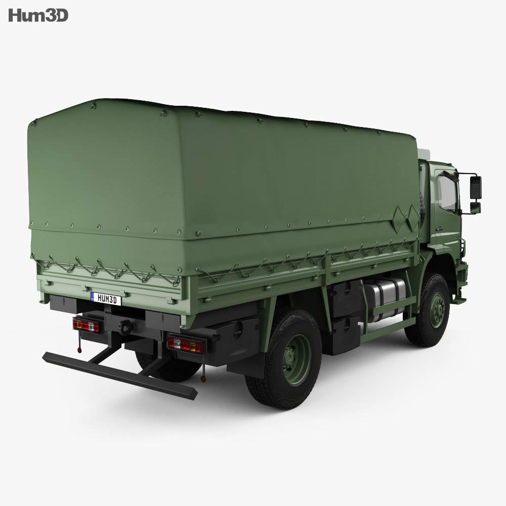 Mercedes-Benz Axor (1828A) Military Truck 2005 3d model