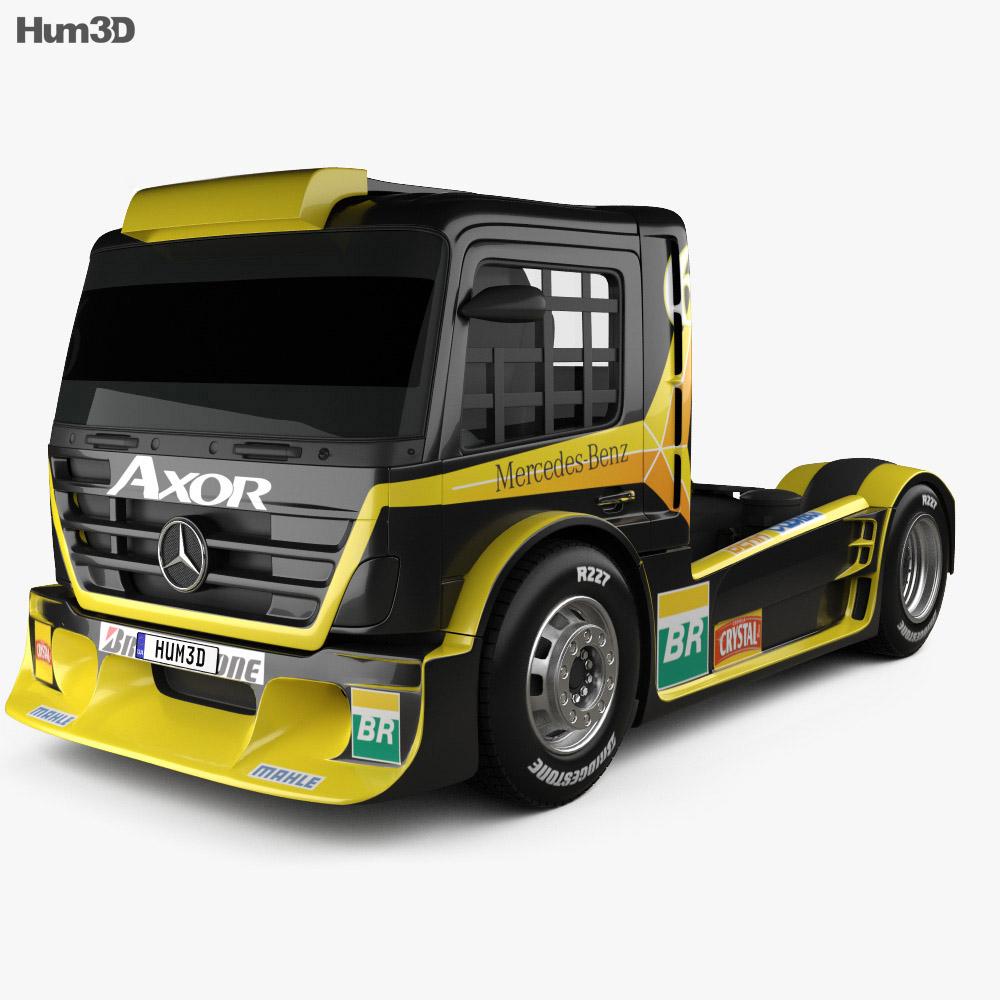 Mercedes-Benz Axor Formula Truck 2011 3d model