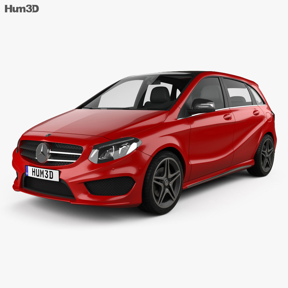 Mercedes benz b class w246 amg line 2014 3d model for 2014 mercedes benz b class