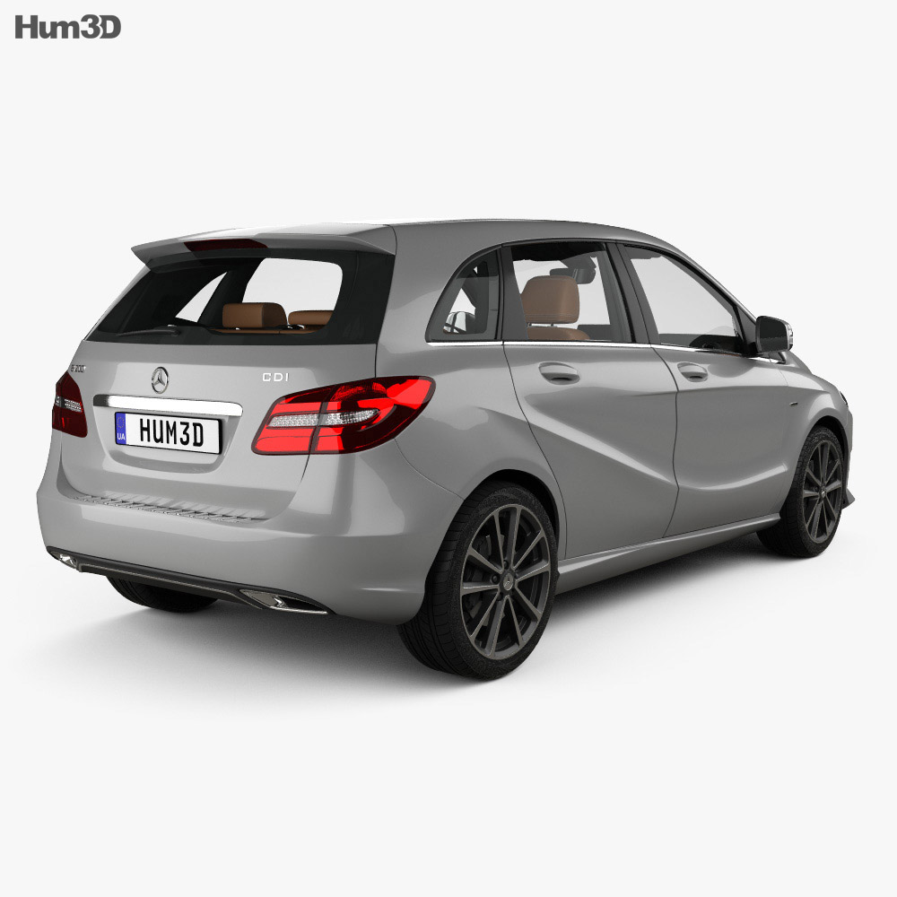 Mercedes-Benz B-class Urban Line with HQ interior 2014 3d model