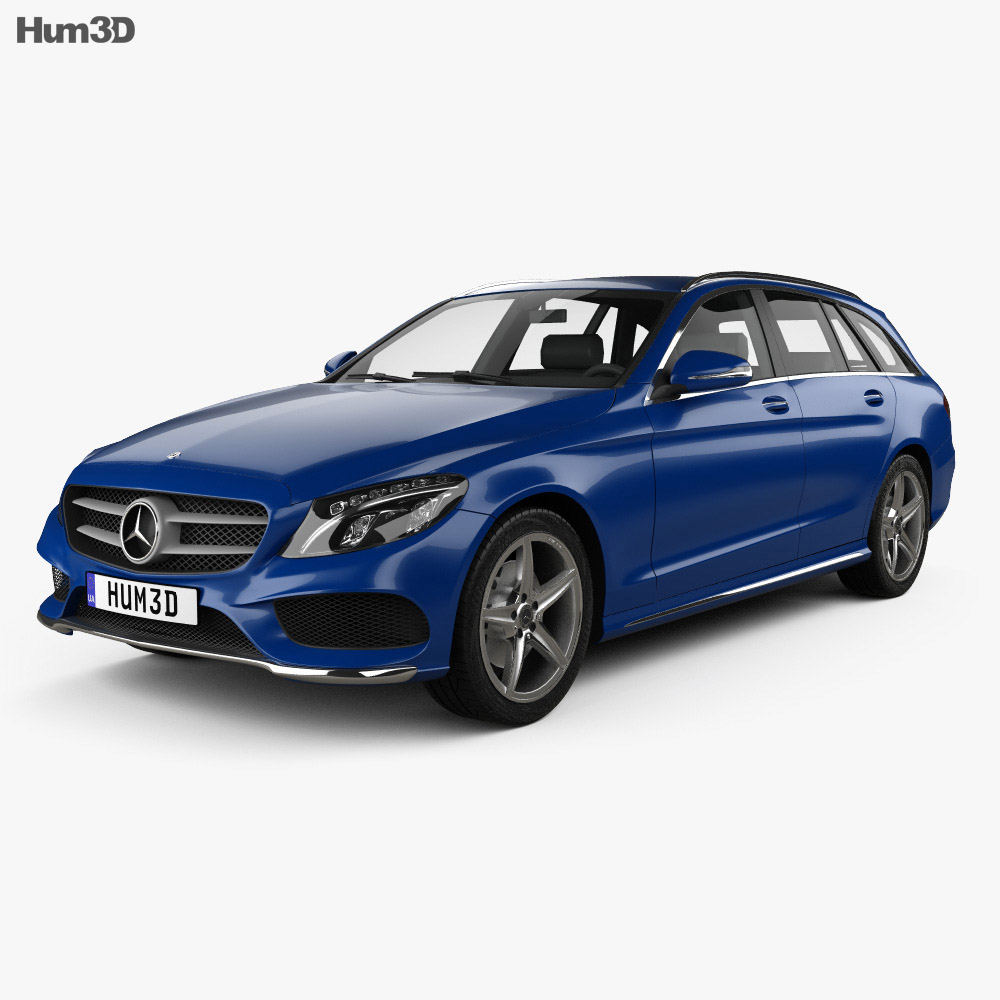 Mercedes-Benz C-Class (S205) estate AMG line 2014 3d model