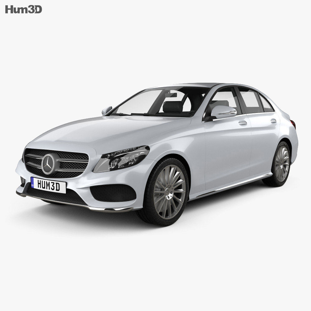 mercedes benz c class amg line w205 sedan 2014 3d model