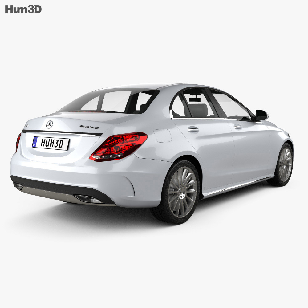 Mercedes-Benz C-Class AMG Line (W205) sedan 2014 3d model