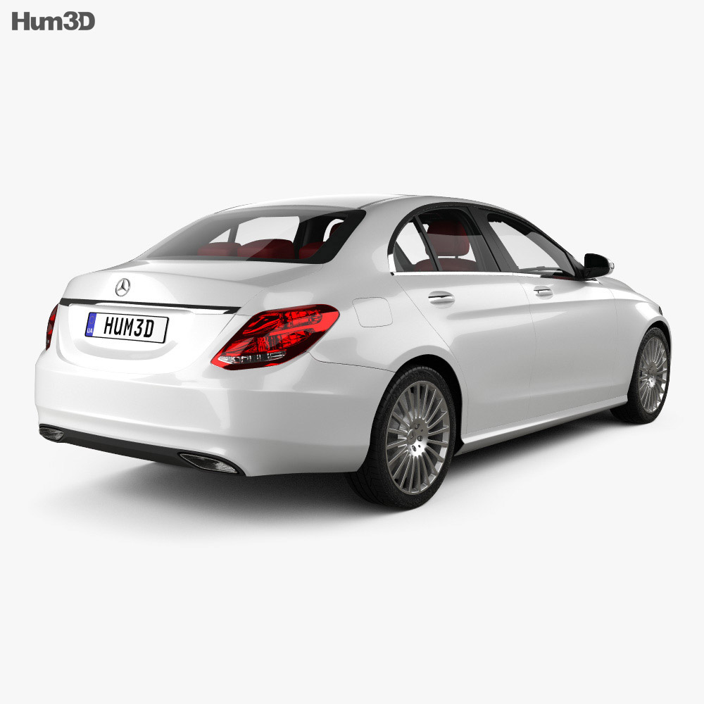 Mercedes-Benz C-Class (W205) sedan with HQ interior 2014 3d model
