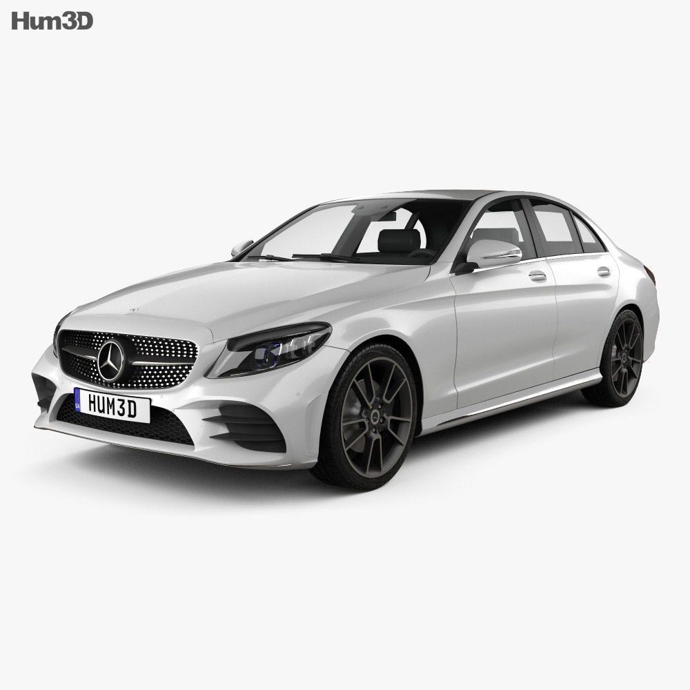 Mercedes-Benz C-Class AMG-line sedan 2018 3d model