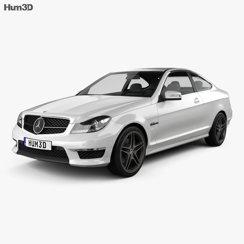 Mercedes-Benz C-Class 63 AMG coupe 2012 3d model