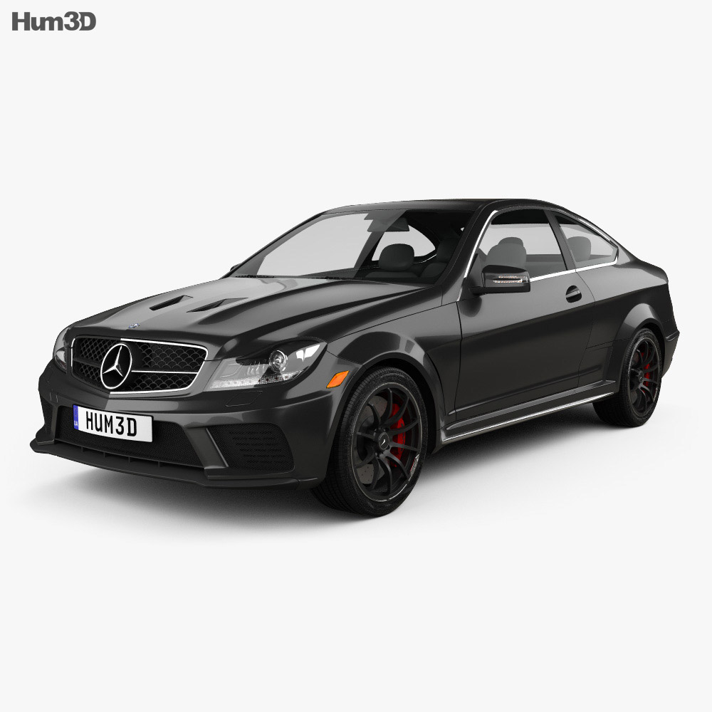 Mercedes-Benz C-Class 63 AMG Coupe Black Series 2012 3d model