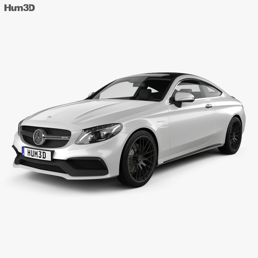 mercedes benz c lass amg coupe 2015 3d model hum3d