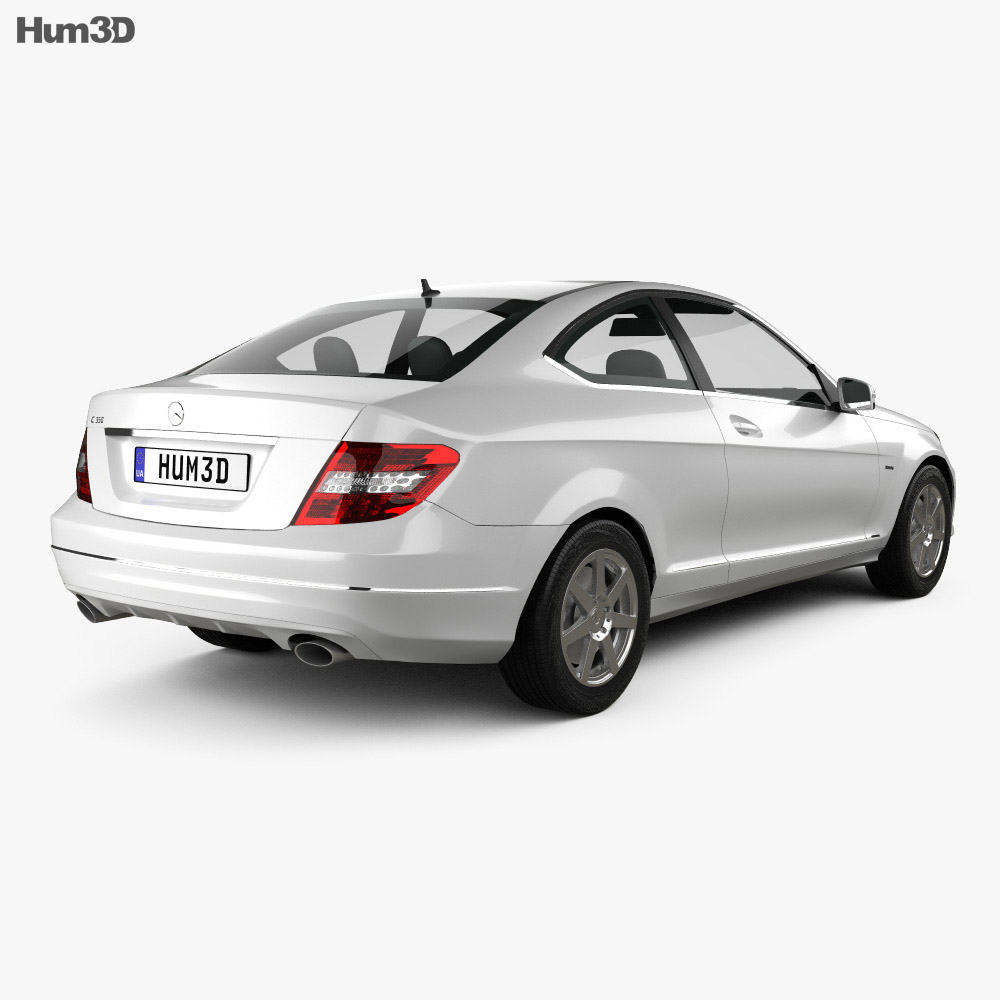 Mercedes-Benz C-class coupe 2012 3d model