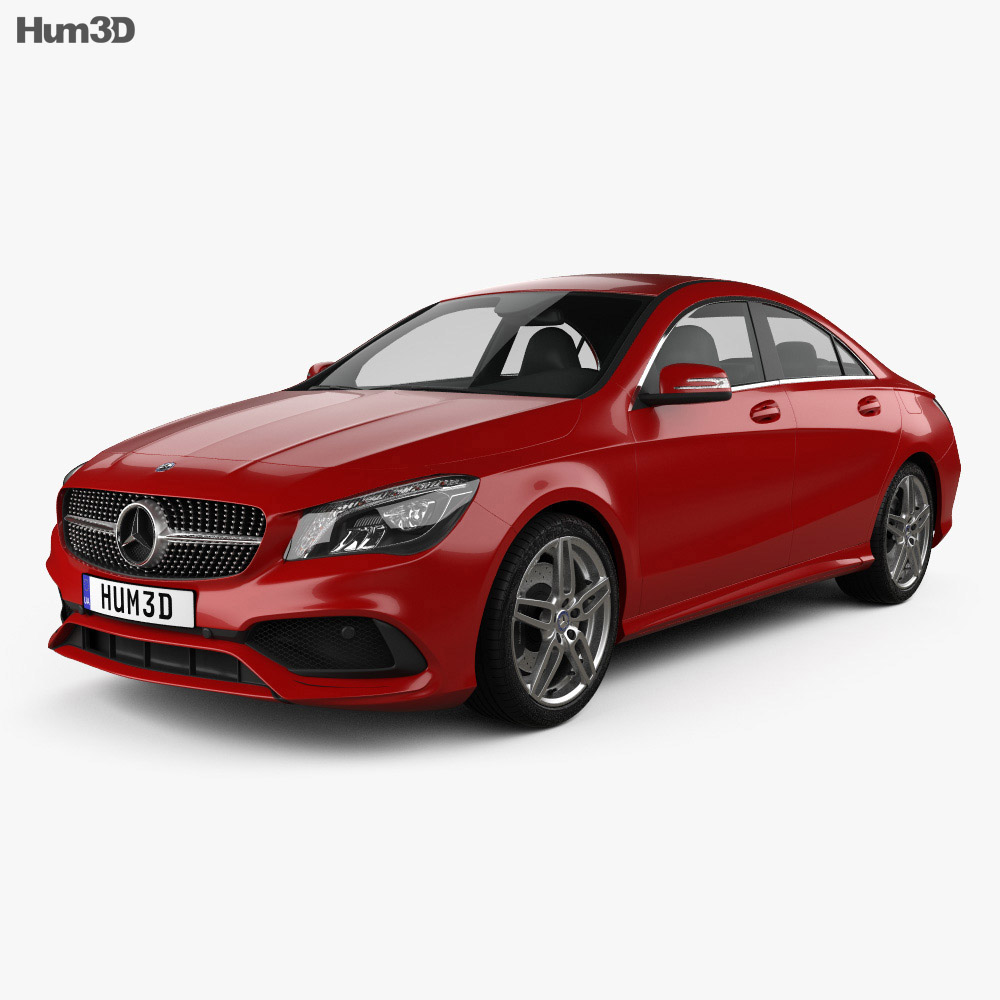 mercedes benz cla class c117 amg 2016 3d model vehicles on hum3d. Black Bedroom Furniture Sets. Home Design Ideas