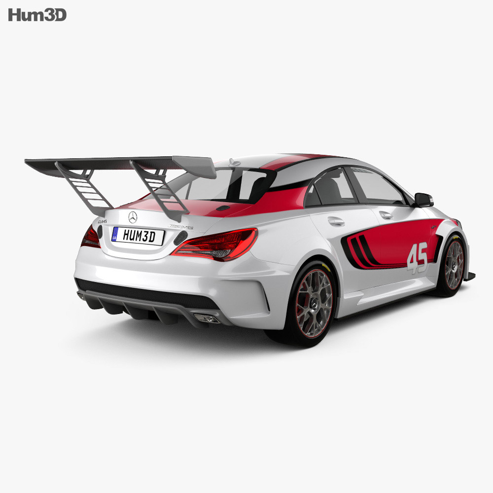 Mercedes-Benz CLA-Class (C117) AMG Racing 2014 3d model