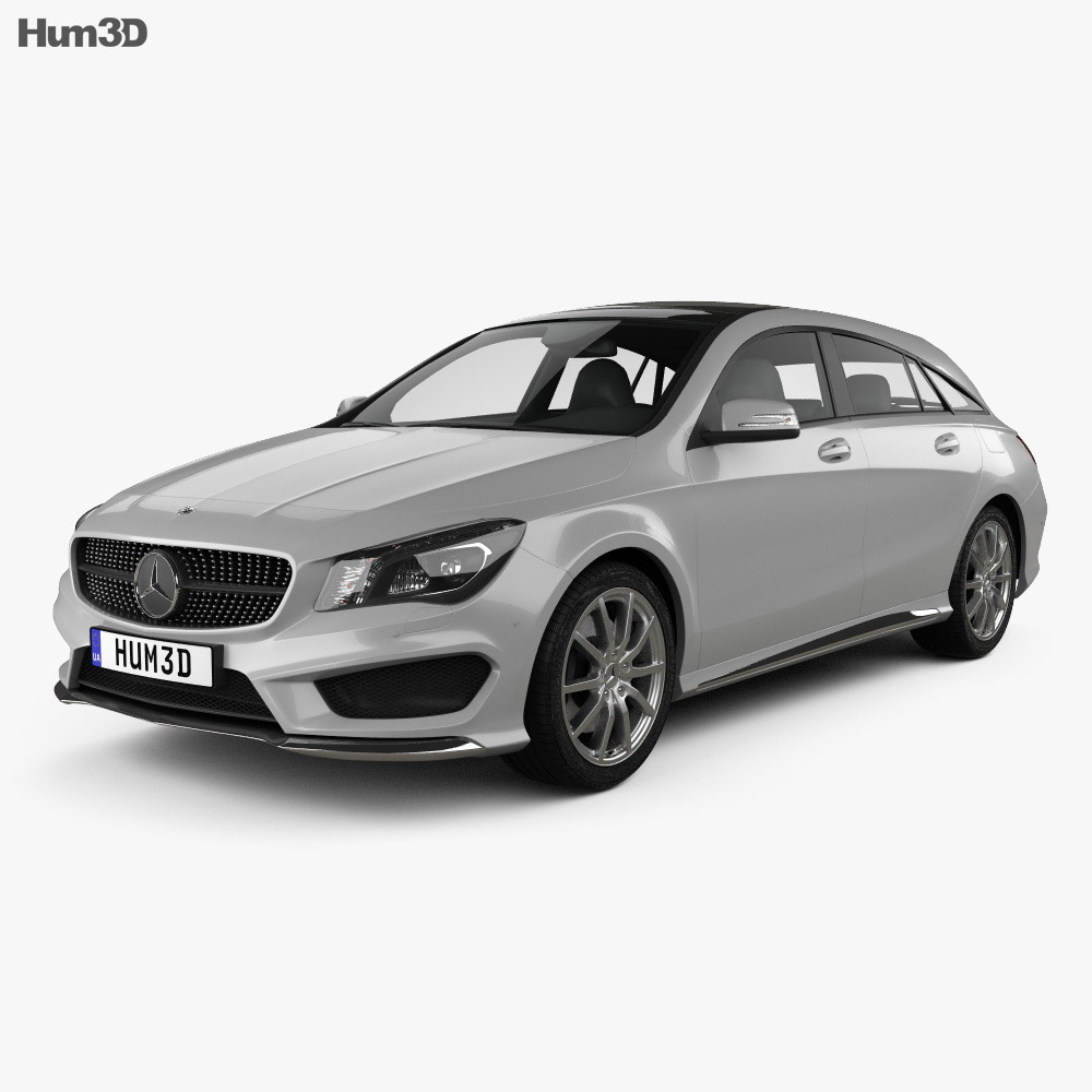 Mercedes-Benz CLA-Class (C117) Shooting Brake 2014 3d model