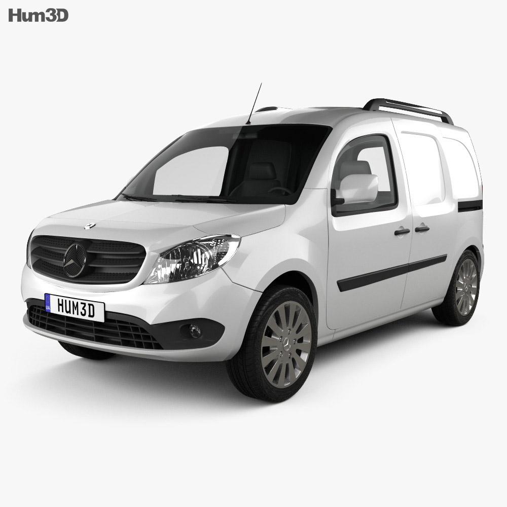 3D model of Mercedes-Benz Citan Delivery Van 2012