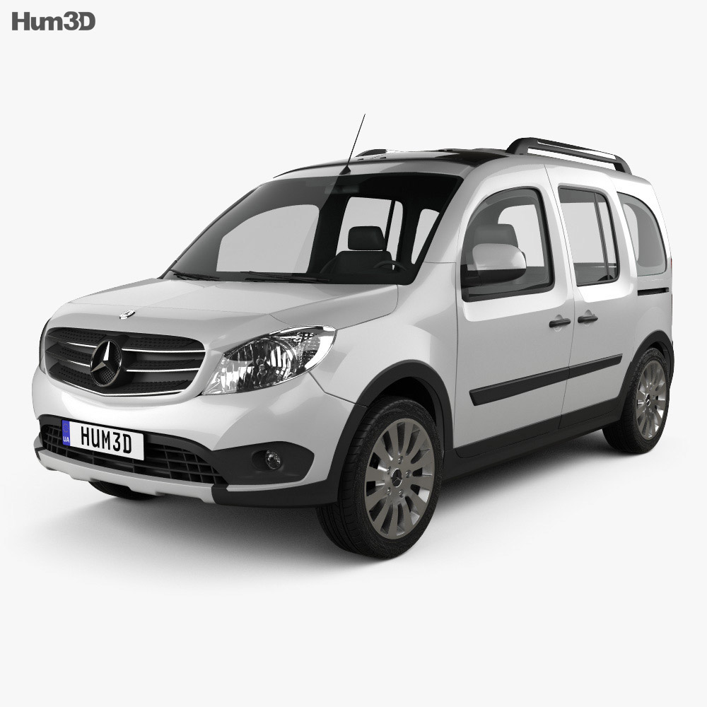 mercedes benz citan tourer off road 2016 3d model. Black Bedroom Furniture Sets. Home Design Ideas