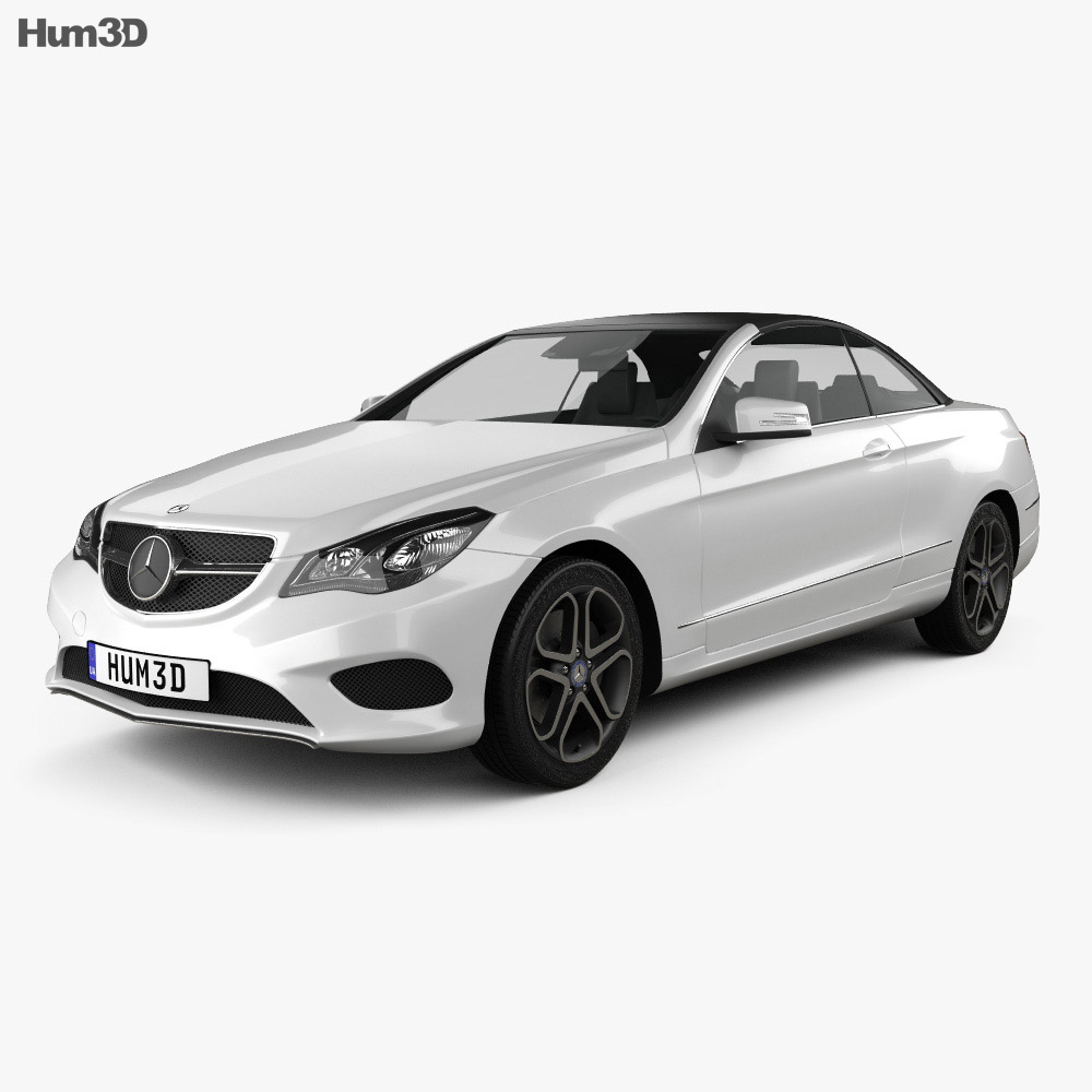 Mercedes benz e class convertible 2014 3d model humster3d for Mercedes benz e class models
