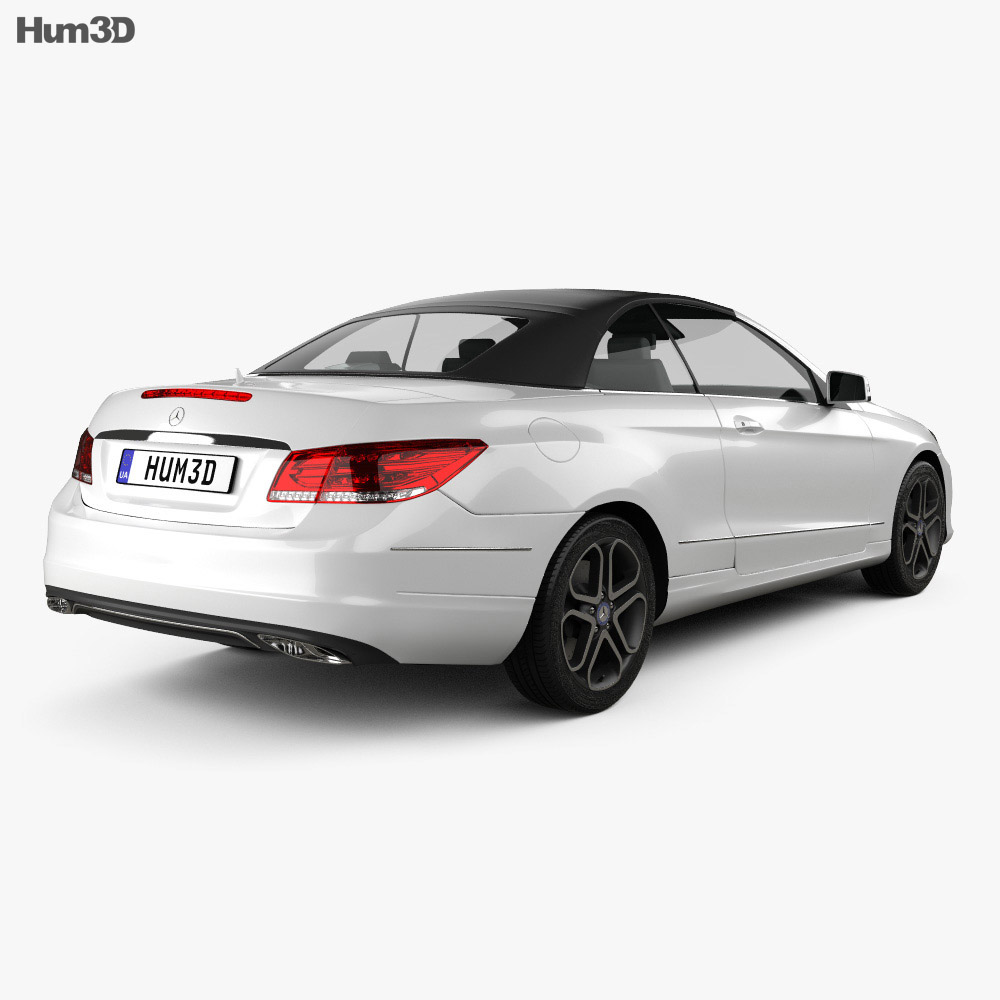 Mercedes benz e class convertible 2014 3d model humster3d for Mercedes benz hardtop convertible 2014