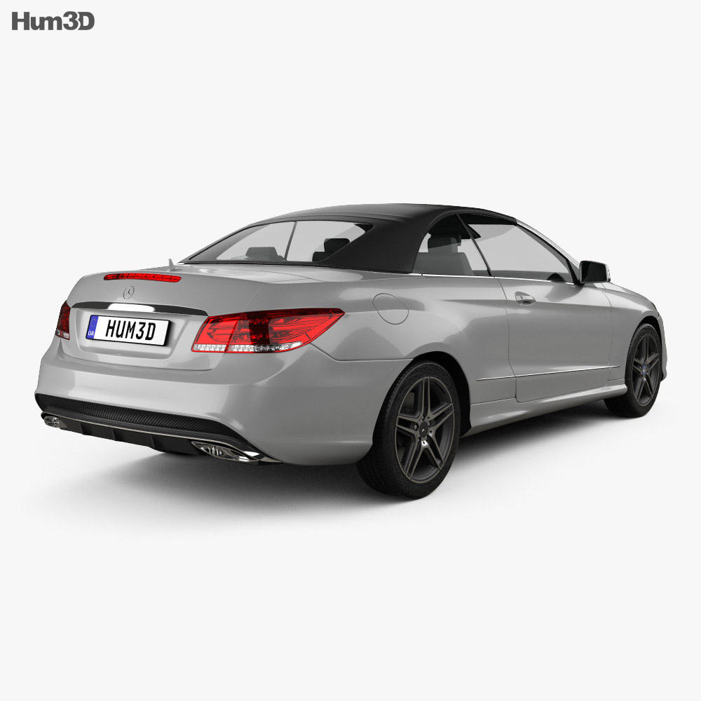 Mercedes-Benz E-Class Convertible AMG Sports Package 2014 3d model