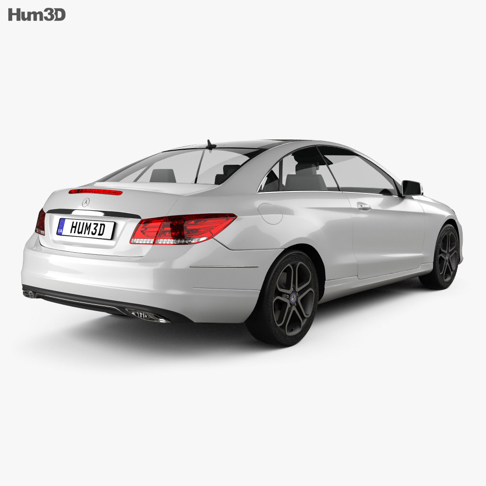 Mercedes benz e class coupe 2014 3d model hum3d for Mercedes benz e class models