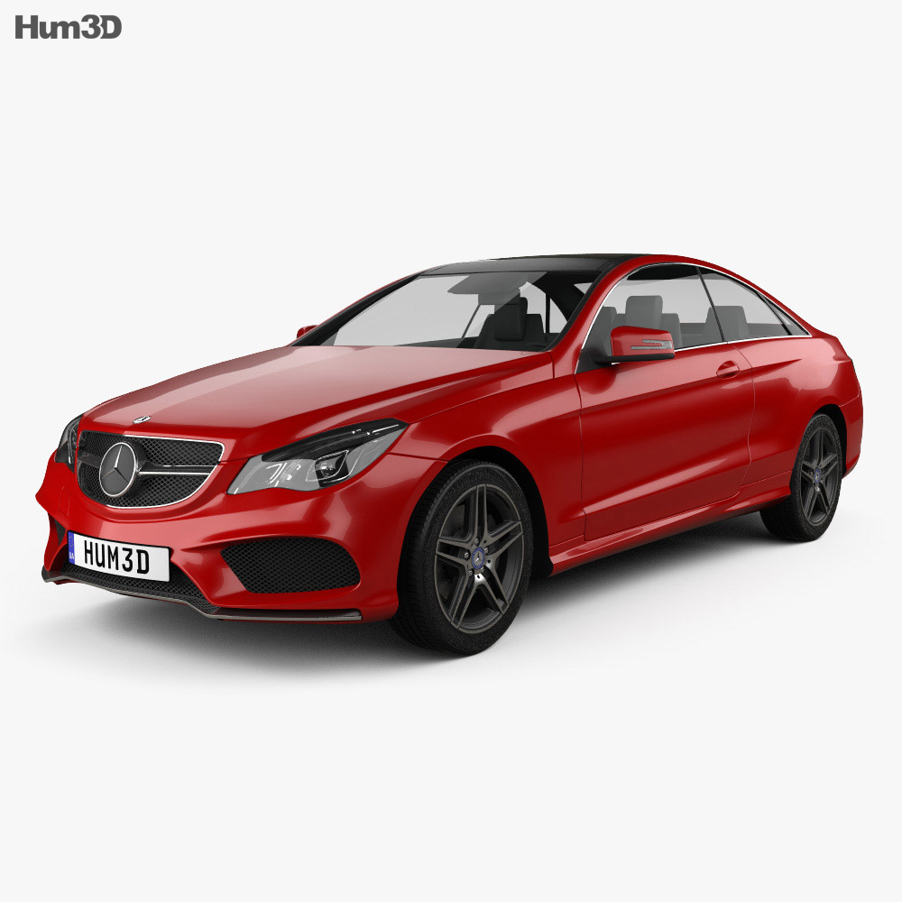 Mercedes-Benz E-Class Coupe AMG Sports Package 2014 3d model