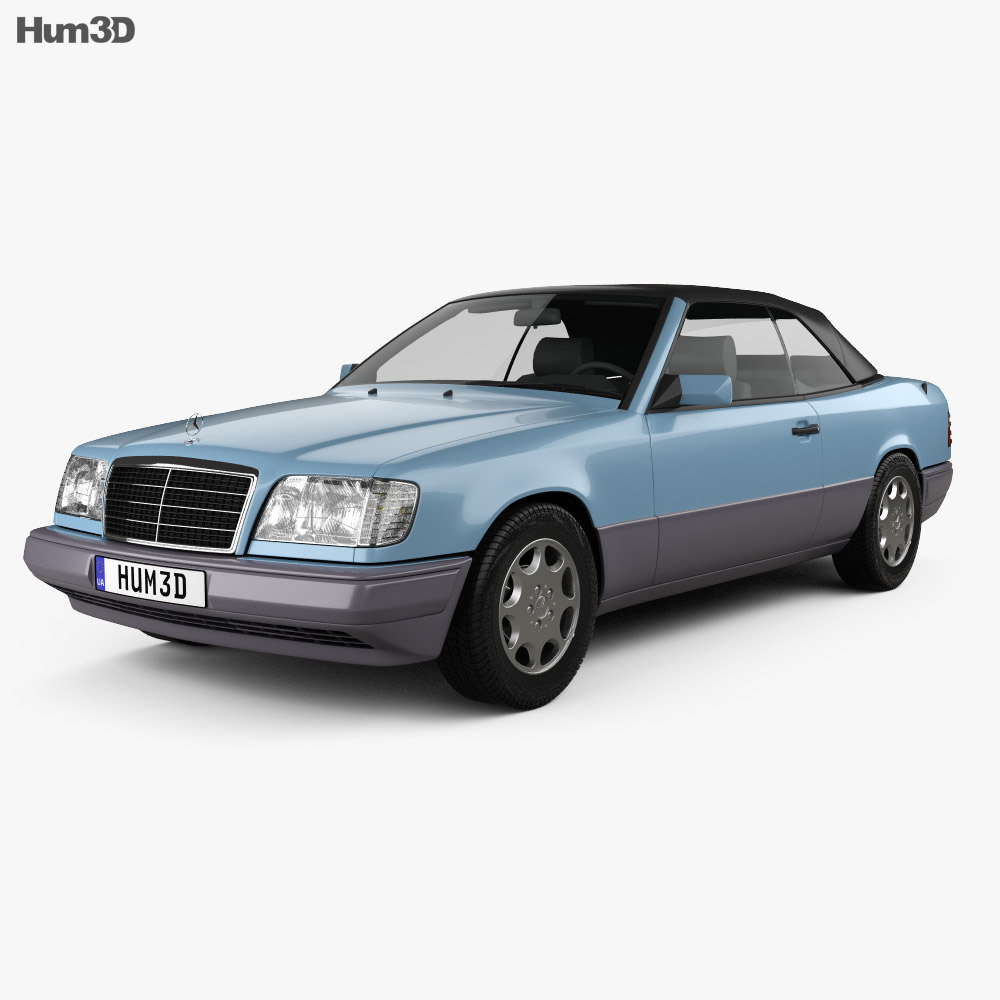Mercedes-Benz E-class convertible 1993 3d model