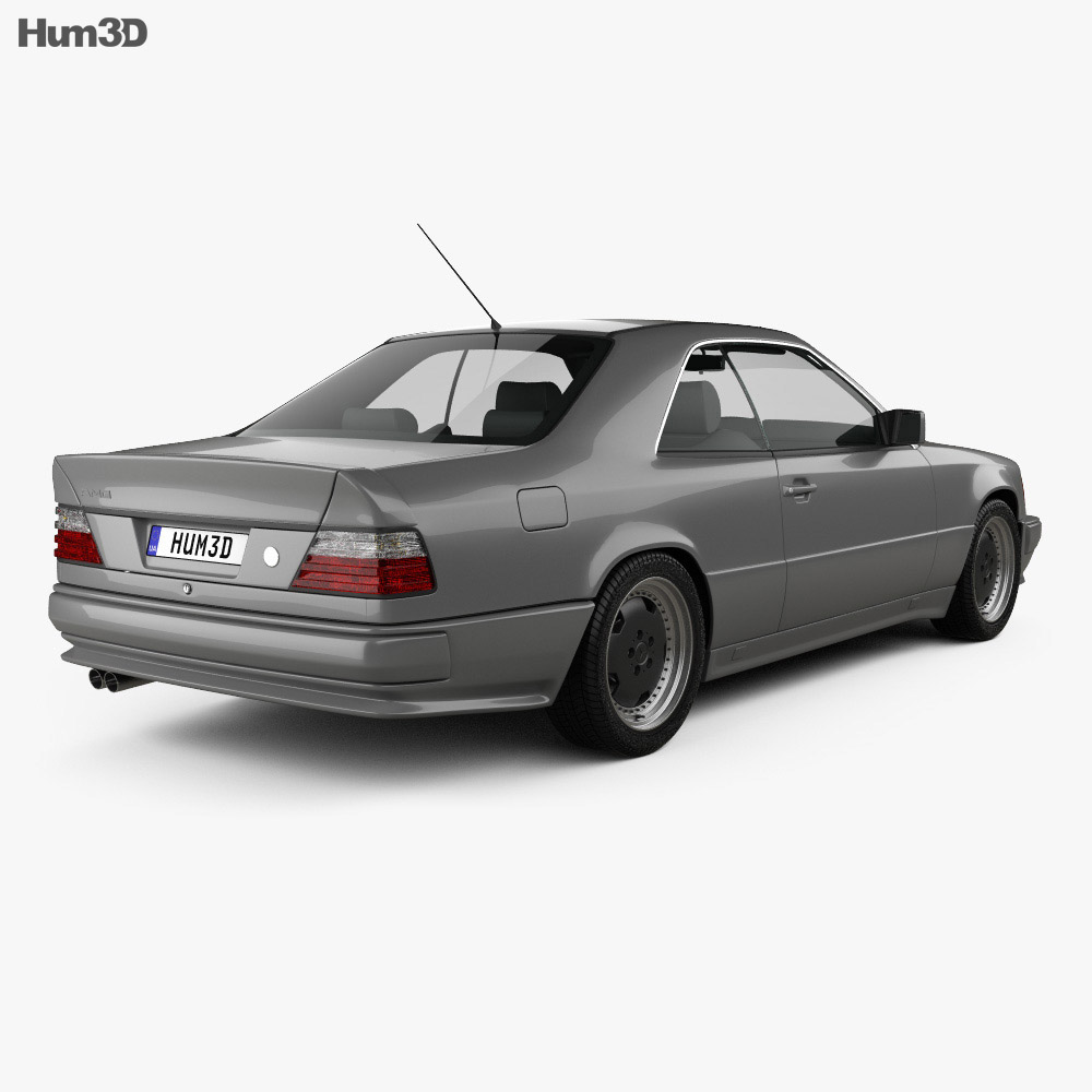 Mercedes-Benz E-Class AMG coupe 1988 3d model