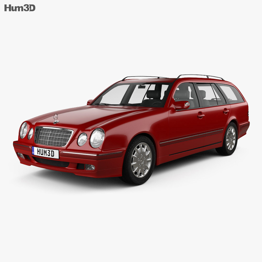 Mercedes benz e class wagon 1999 3d model humster3d for Mercedes benz wagons