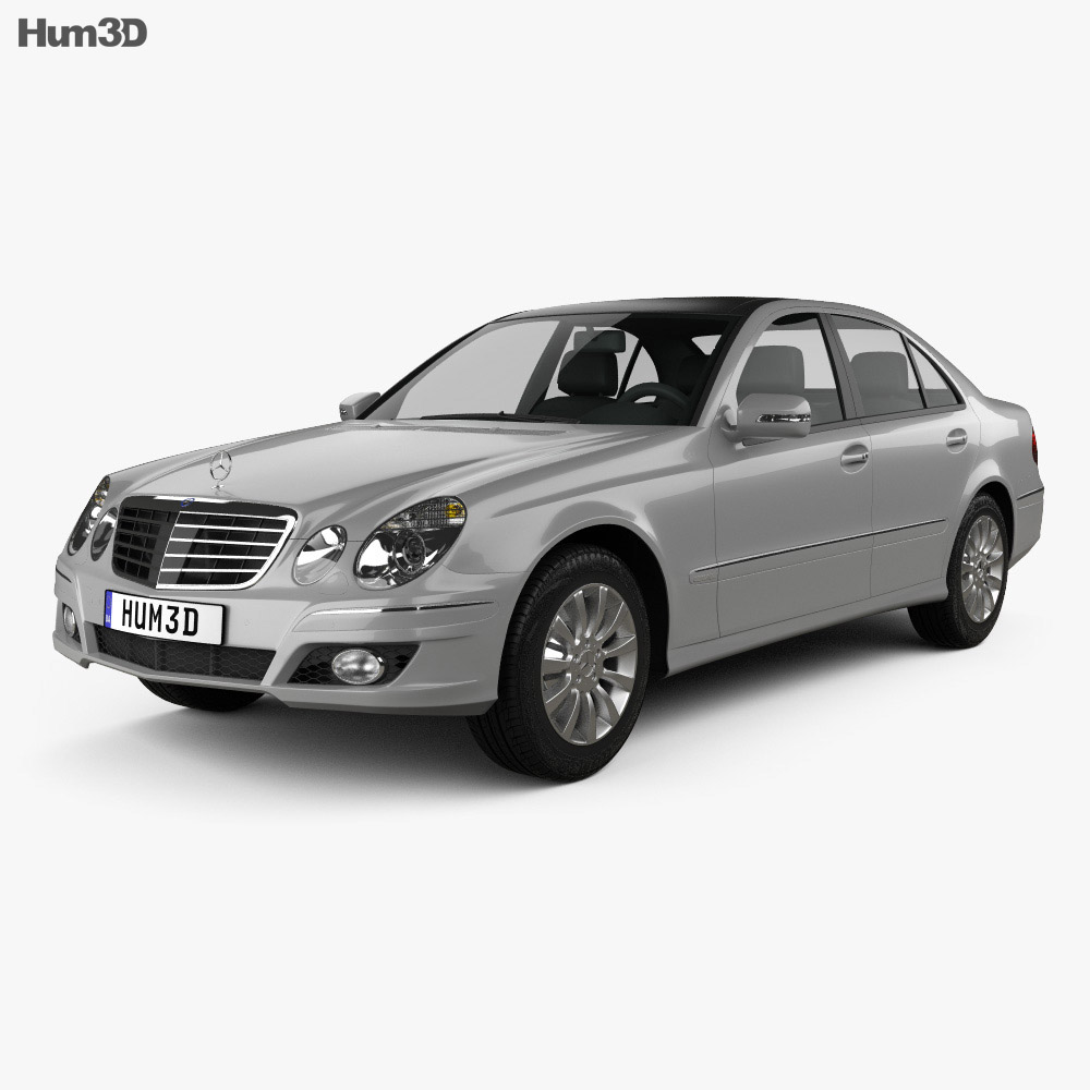 Mercedes benz e class w211 2006 3d model humster3d for Mercedes benz e class models