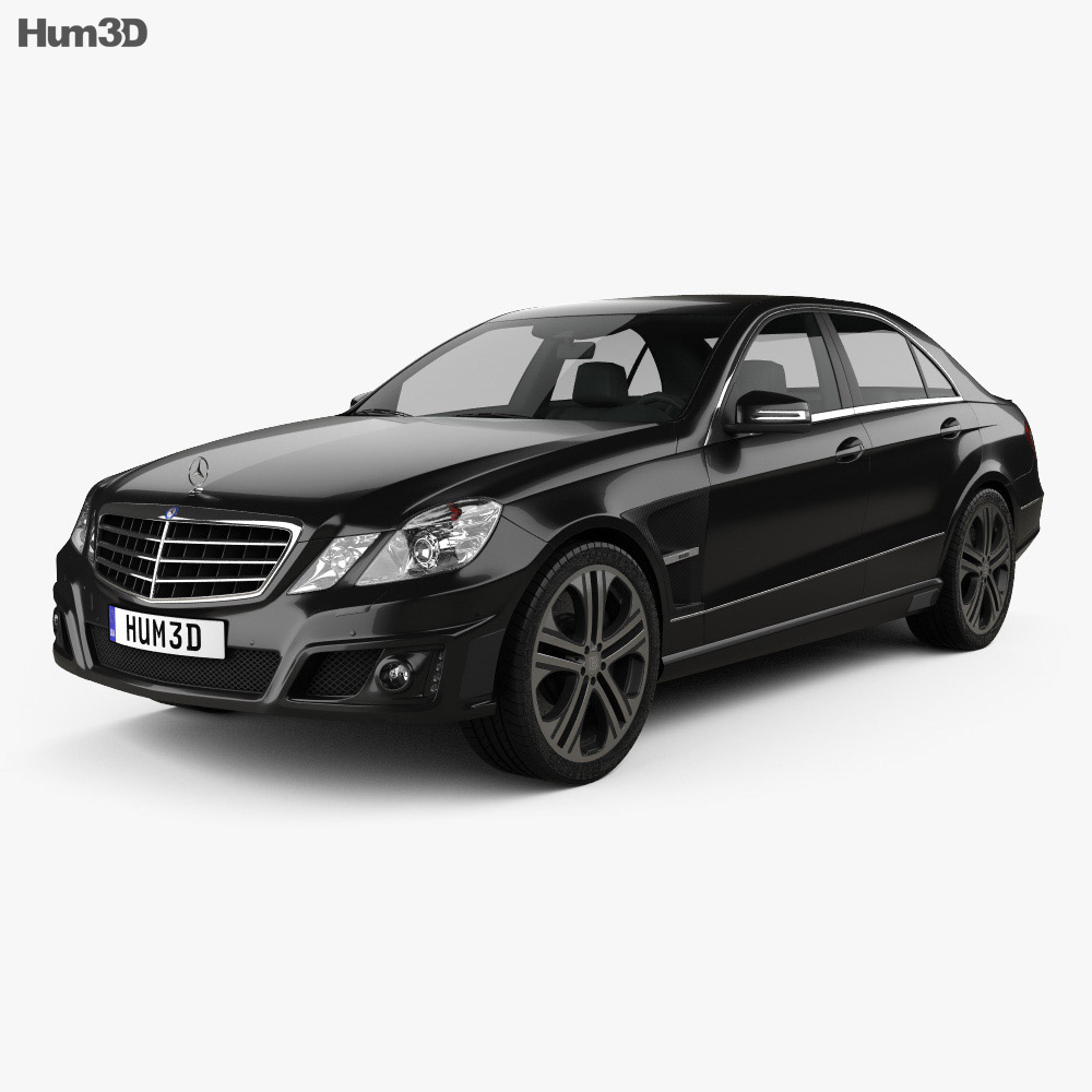 mercedes benz e class brabus 2010 3d model humster3d. Black Bedroom Furniture Sets. Home Design Ideas