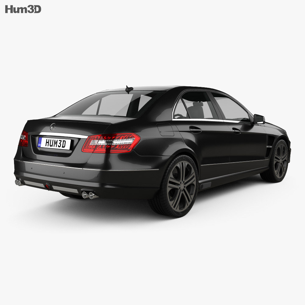 Mercedes benz e class brabus 2010 3d model hum3d for Mercedes benz e class models