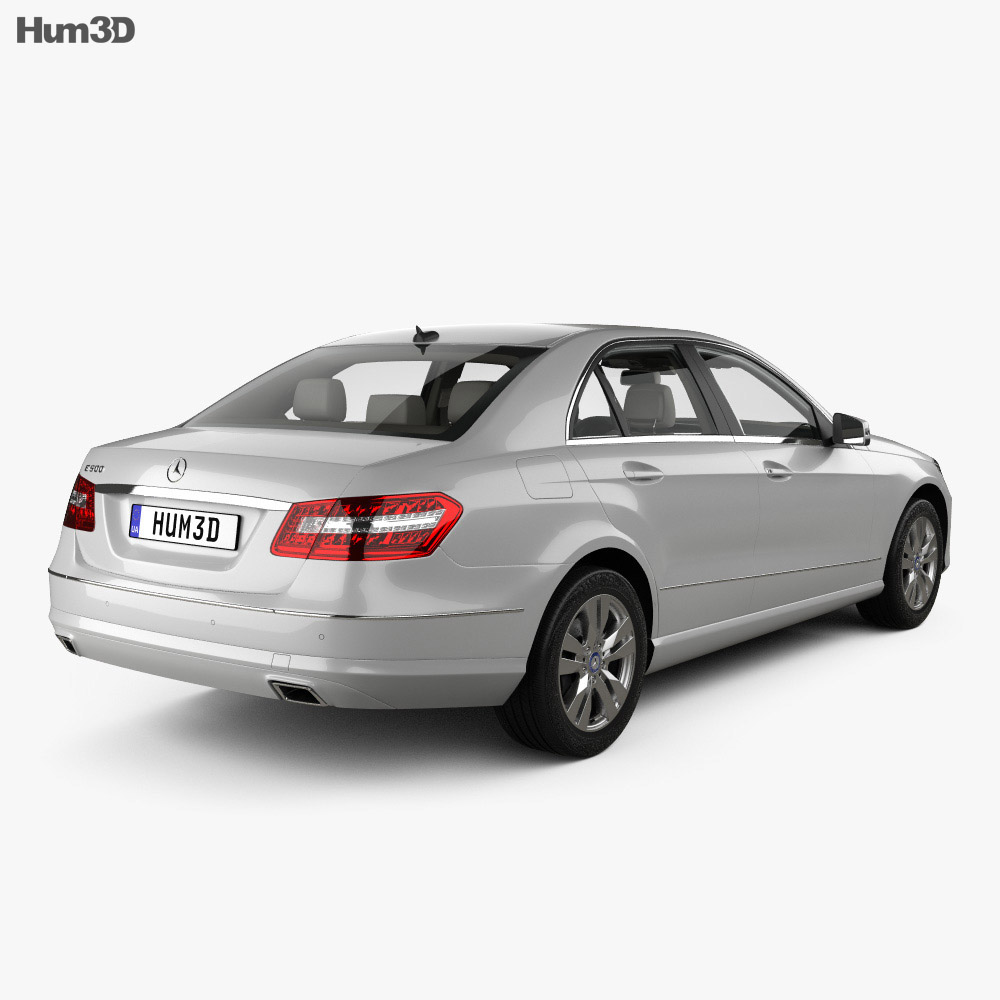 Mercedes-Benz E-class sedan with HQ interior 2010 3d model