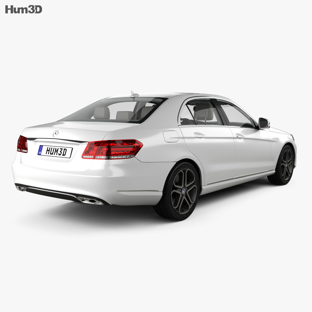 Mercedes-Benz E-class (W212) sedan with HQ interior 2014 3d model