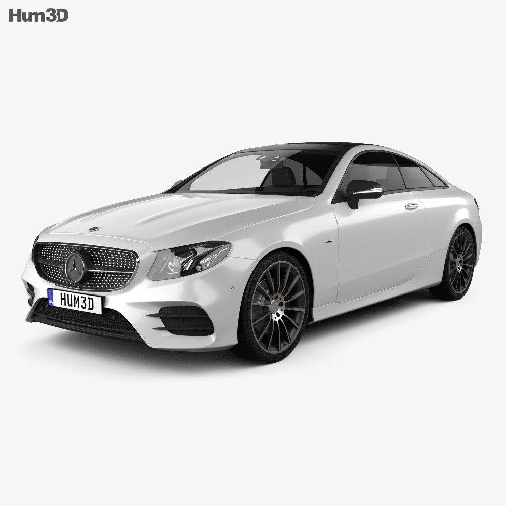 mercedes benz e class c238 coupe amg line 2016 3d model vehicles on hum3d. Black Bedroom Furniture Sets. Home Design Ideas