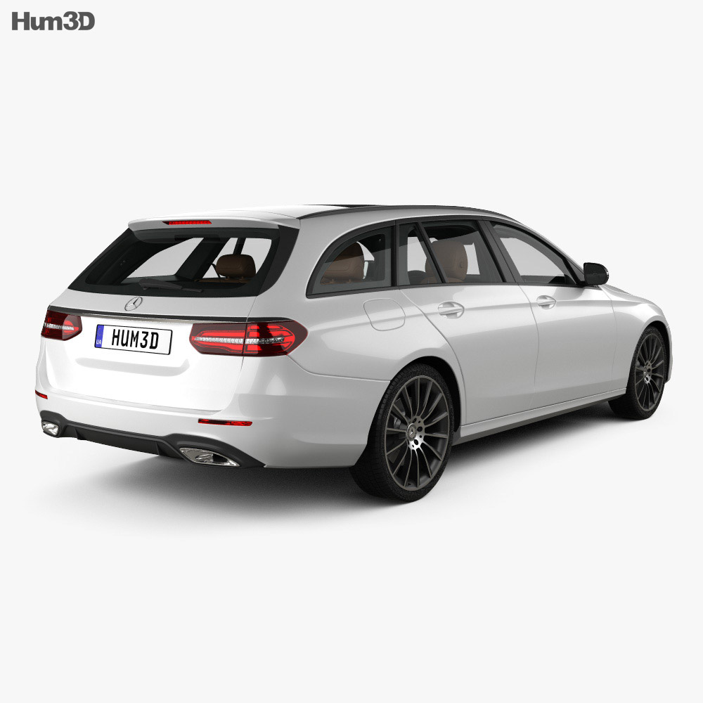 Mercedes-Benz E-class AMG-Line estate with HQ interior 2016 3d model