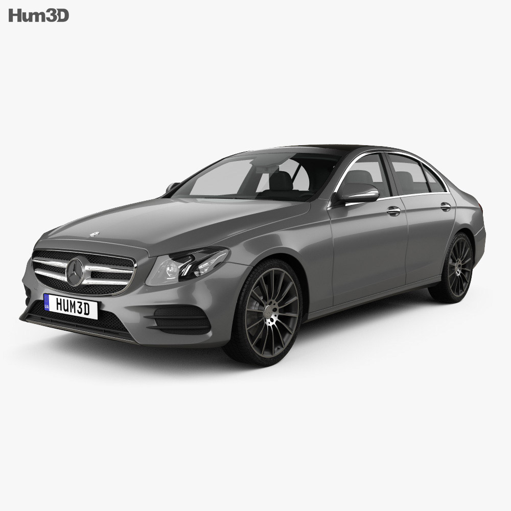 Mercedes benz e class w213 amg line 2016 3d model hum3d for Mercedes benz e class models
