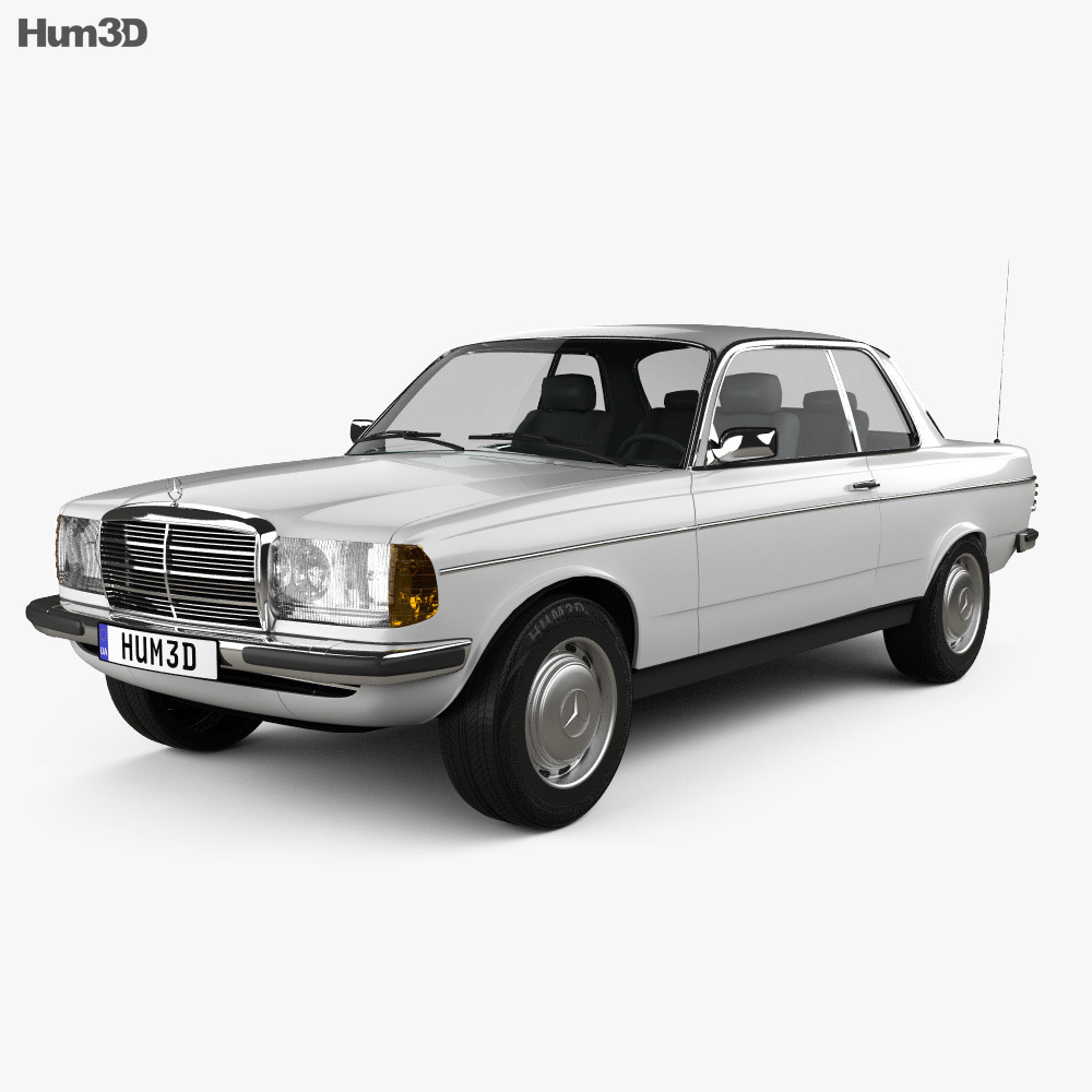 mercedes benz e class w123 coupe 1975 3d model vehicles. Black Bedroom Furniture Sets. Home Design Ideas