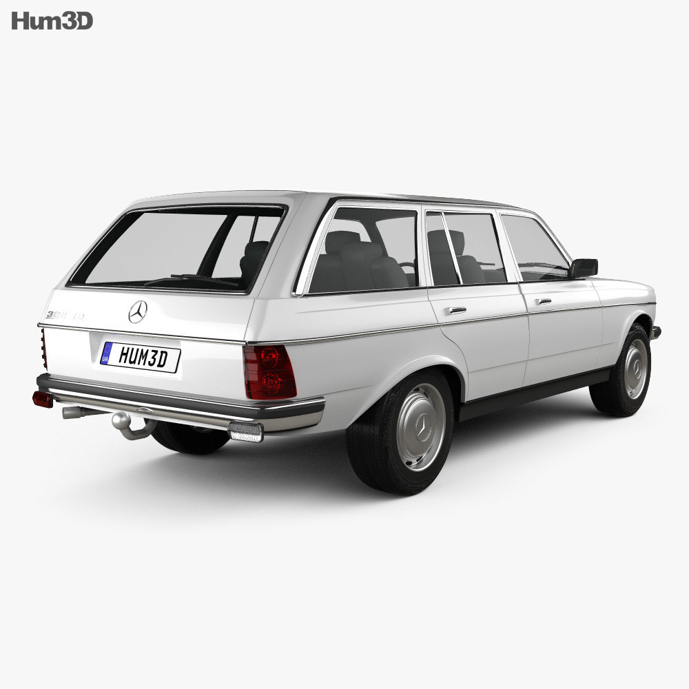 Mercedes-Benz E-Class W123 estate 1975 3d model