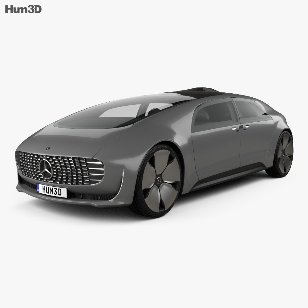 Mercedes benz f 015 2015 3d model hum3d for Mercedes benz f 015