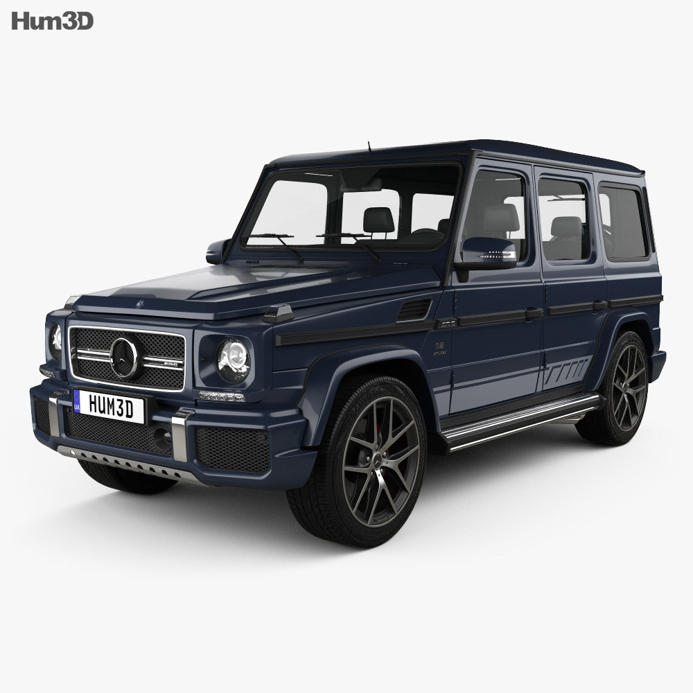 mercedes benz g class amg 2016 3d model humster3d. Black Bedroom Furniture Sets. Home Design Ideas